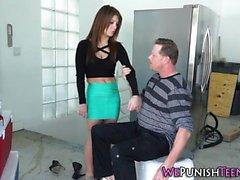 Kinky teen gets cummed