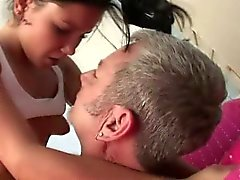 Pretty Teen Girl Sucking Off And Riding Dirty Old Man