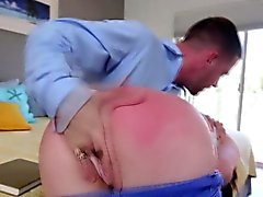 Teen ass spanked til red