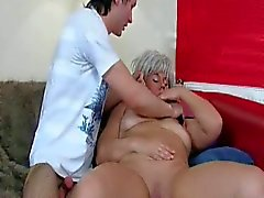 Naughty mature milf sucks and fucks younger dude