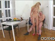 Young sweetheart gets impaled on cock of an old naughty dude