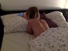 Guilty morning. Tribute to Erika Lust. Girl masturbates watching porn.