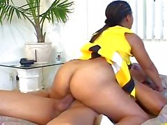 Horny ebony cheerleader