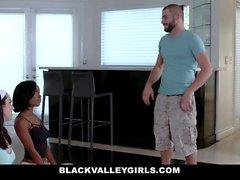 BlackValleyGirls - Ebony Teen Fucks Best Friends Brother