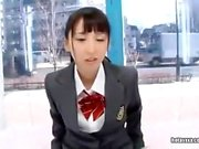 Cute Japanese teen blowjob