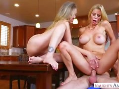 Alexis Fawx Mom And Aunt Julia Ann Fuck Son In The Kitchen