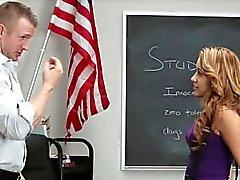 Naughty teen schoolgirl Marina Angel smashed on the desk