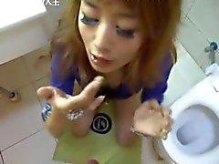 Happy Chinese girl enjoy