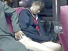 Sleeping schoolgirl used by stranger