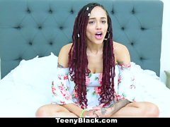TeenyBlack - Exotic Ebony Teen Filled With Cock
