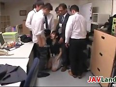 Japanese Girl Getting Facials In The Office