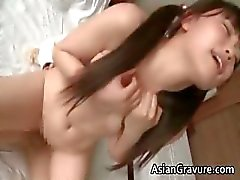 Cute japanese schoolgirl gives amazing part2