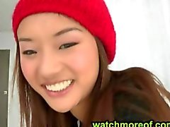 Fresh teen Alina Li gets a messy facial