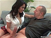 Brunette schoolgirl andrea kelly gets drilled by teacher