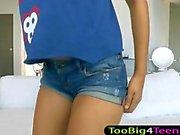 Thai slut with big boobs sucking on the dick