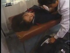 Pigtailed Japanese teen has a naughty doctor devouring her