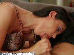 MommyBB Eva Karerra blows dicks like a pro!