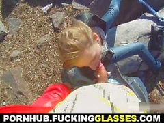 Fucking Glasses - Beach and mall casual sex