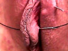 Cute girlfriend close up orgasm