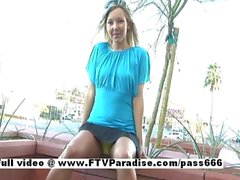 Tamara funny blonde horny babe in action