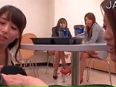 Two jap office worker shared cock 02