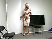 Stepmom Gets Naked And Waxes The Knob Of Young C