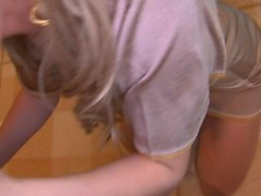 Amateur teen girlfriend doggystyle fuck with facial