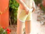 Petite skinny doll teasing