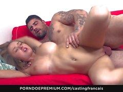 Hot busty newbie first porn scene
