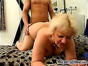 Chubby Granny Being Fucked Doggystyle