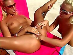 Beautiful Lesbians Fisting Cunts at The Pool BVR