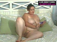 Brunette bbw sophie webcam dildo pussy fucking