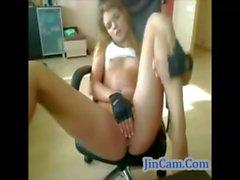 Hot fitness girl horny on webcam