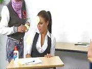 innocent cheerleader punish the teacher