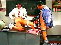 Asian schoolgirl fucked by two teachers