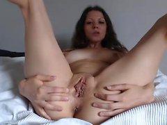 Latina pussy close up on webcam