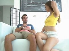 Izzy spread her legs for stepbro