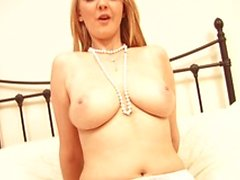 Blonde horny babe lust for a big dildo