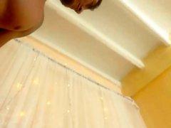 Cute amateur teen brunette pussy dildoing on live webcam