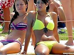 Beach Teens Bikini Voyeur HD