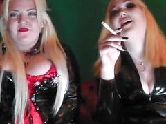 Princess Doll & Mistress Beee Double Domme Smoking Fetish.