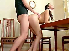 Brother Seduce Skinny StepSister to First Fuck and Creampie