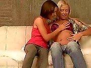 Pretty teens having lesbian anal fun