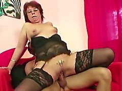 43yr old german mother seduce 18yr old step-son to fuck her