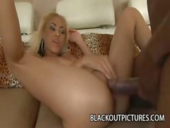 Skinny Teen Angel Marie Takes On A Black Cock