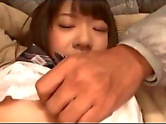 Innocent Asian schoolgirl teen groped and stripped