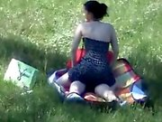 Big ass ride her BF in nature