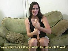 Teen whore masturnating on cam with dildo