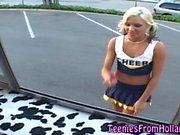 Euro cheerleader cummed