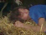 Retro fucking in the barn action